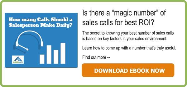 How many calls should a salesperson make