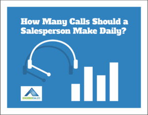 How many calls per day should a salesperson make